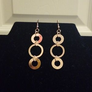 Chained Circle Earrings
